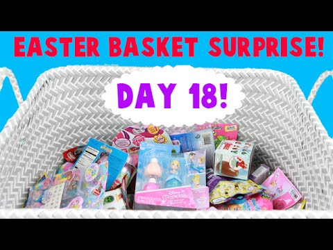 Surprise Easter Basket! Opening Blind Bag Toys! Day 18! Minty's Missing?