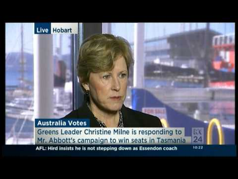 Greens Leader Christine Milne on Brand Tasmania