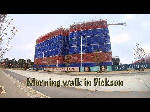4K Morning Walk in Dickson  Canberra