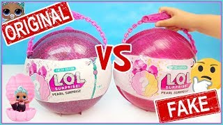 LOL Pearl Surprise Purple. LOL Surprise original vs fake. Limited Edition