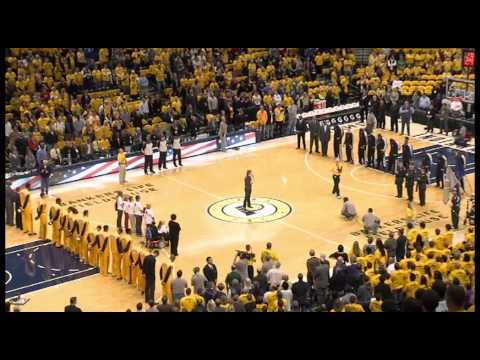 Pacers Opening Night National Anthem
