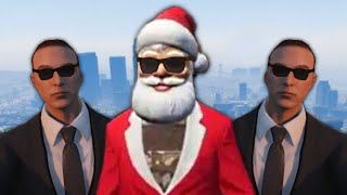 PROTECT SANTA VIP MINI-GAME! (GTA 5 Funny Moments)