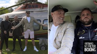 "We took Tyson Fury and Billy Joe on a helicopter ride to their public workouts | ""Let me out now!"""