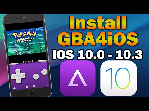 How To Install GBA4iOS Gameboy Emulator on iOS 10.0 - 10.3 (No Jailbreak) iPhone. iPod touch & iPad