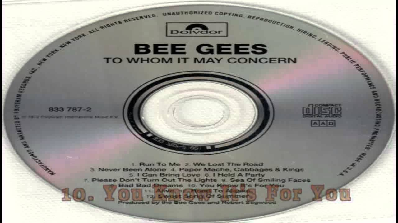Bee Gees - To Whom It May