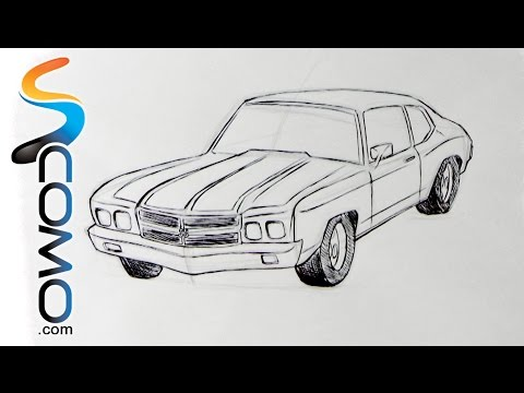 Dibujar un Coche paso a paso - How to draw a car step by step