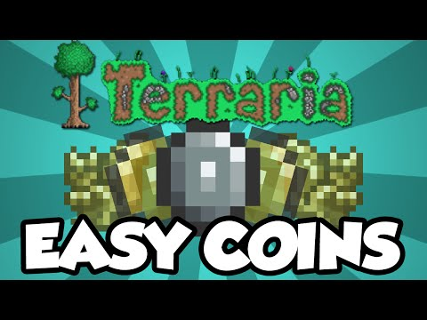 Terraria 1.3 - Easy & Fun Way To Make Gold Early In The Game! [Terraria 1.3 Beginner Gold Guide]