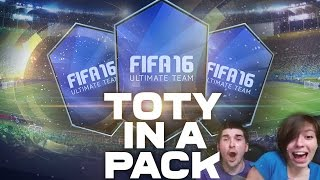 FIFA 16 TOTY IN A PACK! ЛУЧШИЙ TOTY!