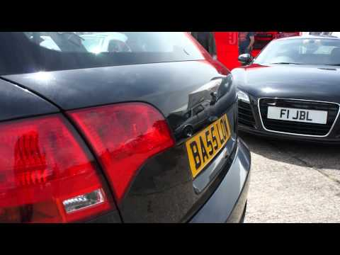 Car Audio Security's Audi A4 Bass Saloon! @ GTI Inters 2012 roof shake