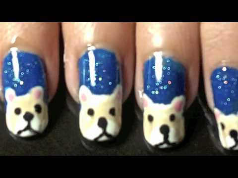 Snowy bear nail art tutorial