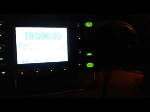 Ham radio telling off a pirate  on 18mhz