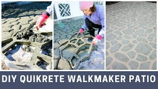 Quikrete Walkmaker Patio DIY Project Tutorial
