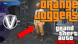 GTA 5 Online | How To Obtain The Orange Joggers 1.43 *WORKING* (GTA 5 Online Outfit Glitches)