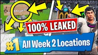 *LEAKED* Fortnite SEASON 7 WEEK 2 CHALLENGE LOCATIONS EARLY!! Piano Locations, Abandoned Mansion