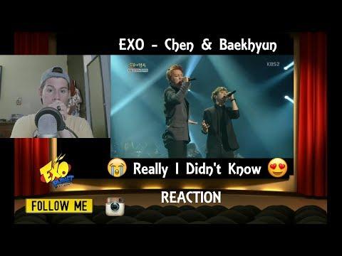Immortal Song 2 Chen & Baekhyun - Really I Didn't Know (REACTION)