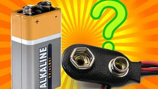 كيف تصنع وصلة لبطارية 9V بنفسك...How to create a link  to your 9V battery