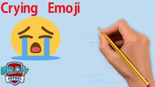 How To Draw Crying Emoji - Easy   Art For Kids Hub