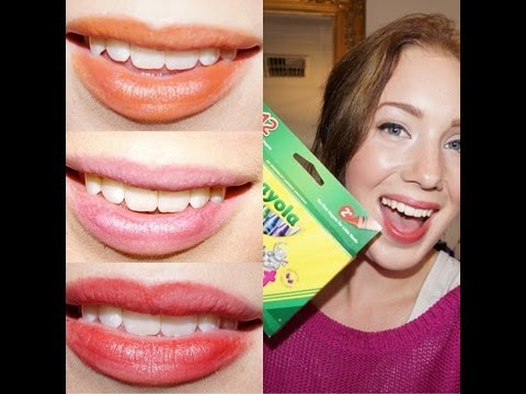 DIY- LIPSTICK using CRAYONS! Safe & Non Toxic!