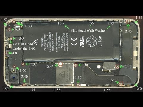 iPhone 4 Screw Size Chart & 4S and 5 link in the description