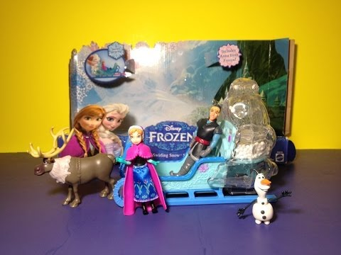 Disney Frozen Swirling Snow Sled Playset with Disney Princess Anna Frozen