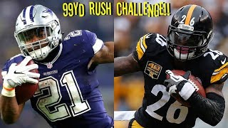 WHO CAN GET A 99YD RUSH FIRST?!? EZEKIEL ELLIOTT VS LEVEON BELL!!