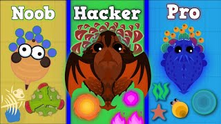 NOOB vs PRO vs HACKER in Mope.io!