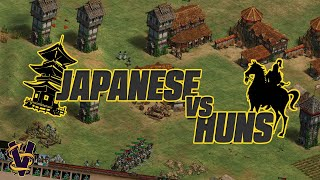 1v1 Arabia | Japanese vs Huns | vs Villese