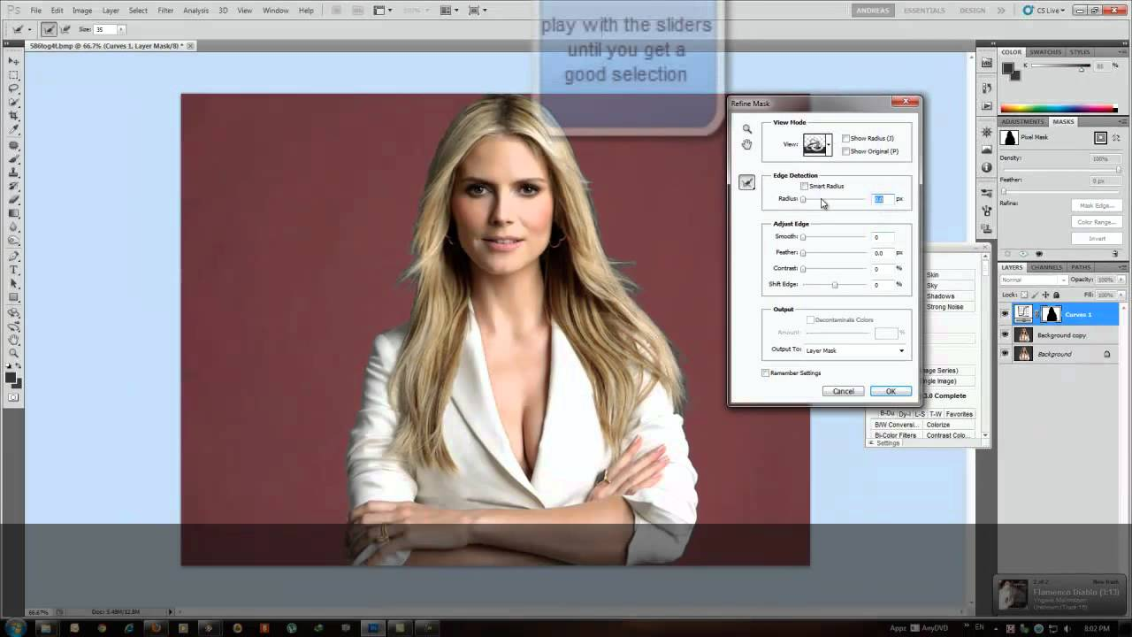 Adobe Photoshop CS5-Change Background color - YouTube