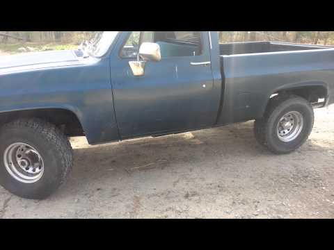 1985 chevy k10 before 4 inch lift kit