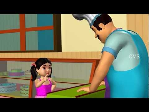 Pat A Cake Pat A Cake - 3D Animation Nursery Rhyme With Lyrics For Children