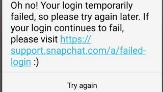 How to fix (Oh no! your login temporarily failed) in Snapchat for android ROOT-ed devices 2017
