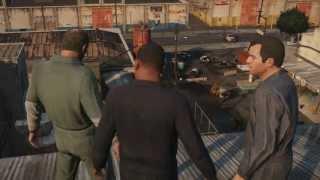 Grand Theft Auto V Gameplay . Геймплейный ролик игры GTA 5 .