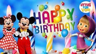 Lagu anak Selamat Ulang Tahun   Bersama Badut Disney Mickey Mouse dan badut Marsha