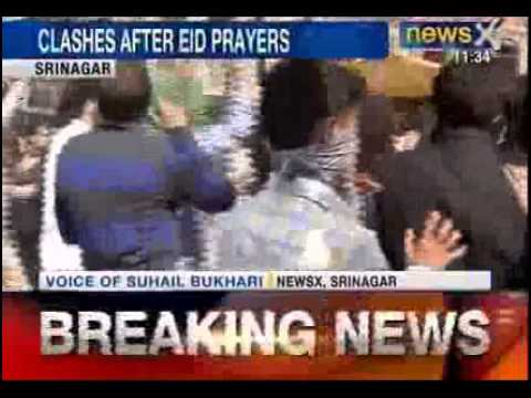 Eid celebrations in Kashmir turn violent following clashes with police - NewsX