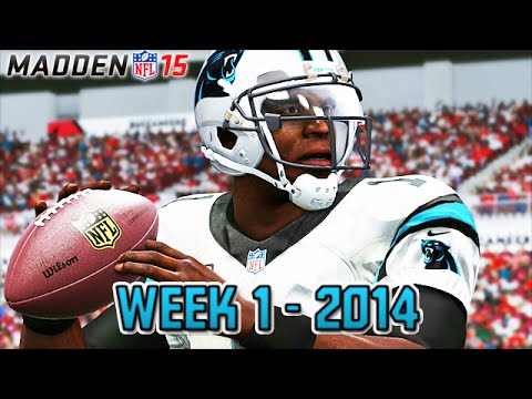 Madden 15 Panthers Connected Franchise - Week 1 @ Buccaneers (Season 1)