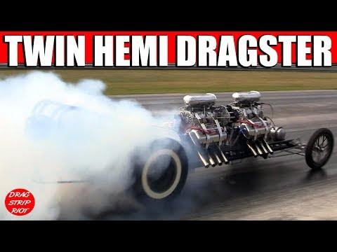 Ken Kull in a Twin Hemi Dragster