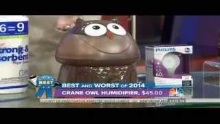 Today Show Dec2014: Crane's Oscar the Owl Humidifier #1 in Consumer Reports
