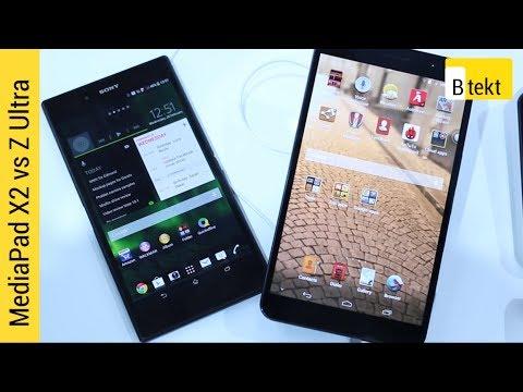 Huawei MediaPad X1 vs Sony Xperia Z Ultra - MWC 2014