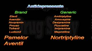 Top 200 Drug Study Antidepressants Brand to Generic