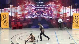 Vanessa Gottschall & Christian Lehr - Landesmeisterschaft Hessen, Rlp, Saarland 2016