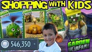 Plants vs. Zombies Garden Warfare: All Plant Upgrades! Shopping w/ Mike 546k+ Coins *MONEY EXPLOIT