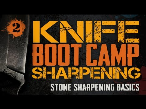 Key to a Shaving Sharp Knife - Stone Sharpening Basics - Knife Sharpening Boot Camp #2