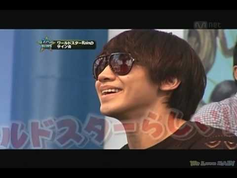 [Rain (Bi) TV] 100602 ikemen News_Rain Special Album 'Back To The Basic' Autography Party