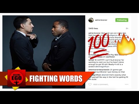"""ADRIEN BRONER TO DANNY GARCIA: """"AIN'T NO MORE DUCKING! LET'S DO THIS SHIT!"""" *boxingego*"""