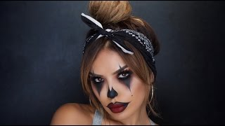 GANGSTER CLOWN HALLOWEEN TUTORIAL | iluvsarahii