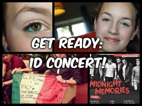 """Get ready with me ♥CONCERTO ONE DIRECTION 2014♥ + OUTFITS! (versione """"young girls)"""