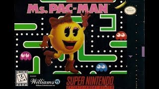 Ms. Pac-man (SNES) Gameplay