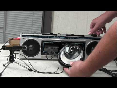 General Electric Model no. GE 3-6210A Boombox Double cassette Line in Stereo sound Mini