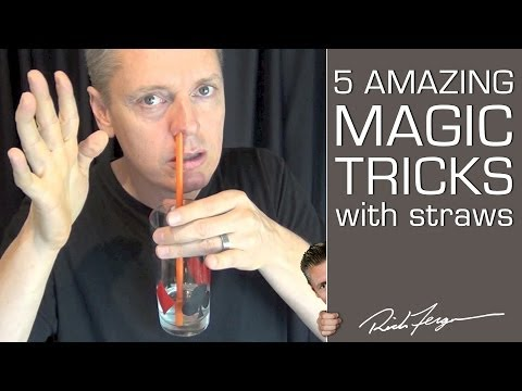 How to do 5 Amazing Magic Tricks with a Straw klip izle