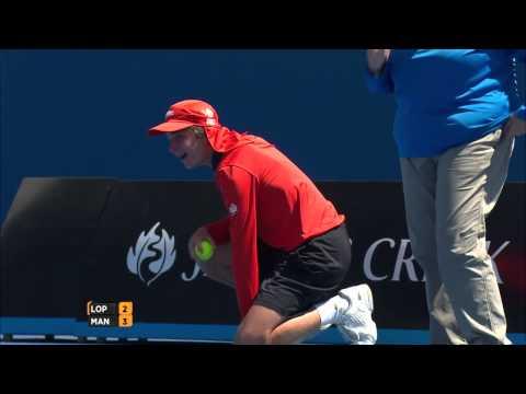 Ball kid hit in the... - Australian Open 2015